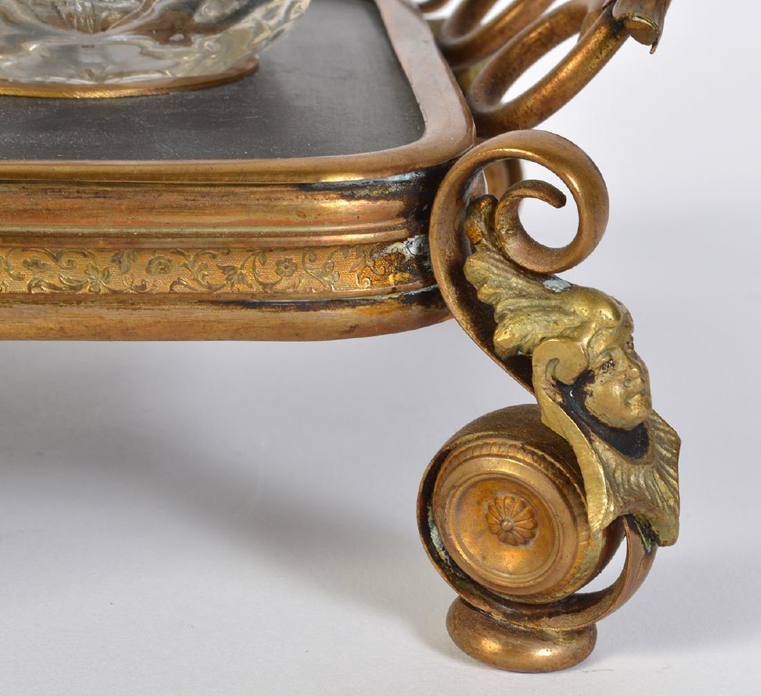Bronze Mounted Pietra Dura Inkstand - 3