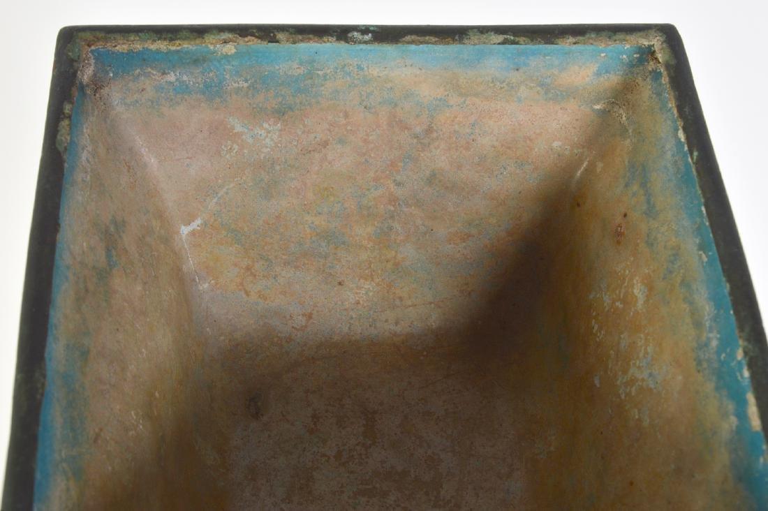 Pr. Chinese Painted Enameled Metal Planters - 9