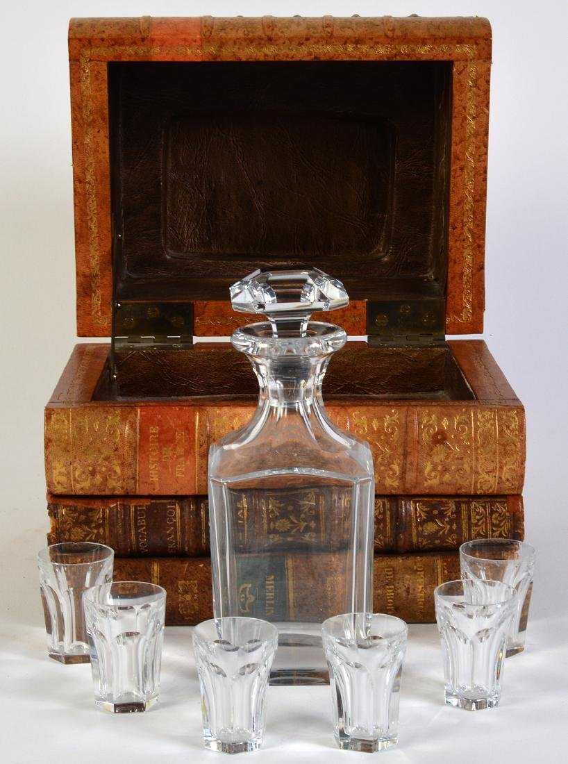 Baccarat Book Bar with Decanter & 6 Glasses