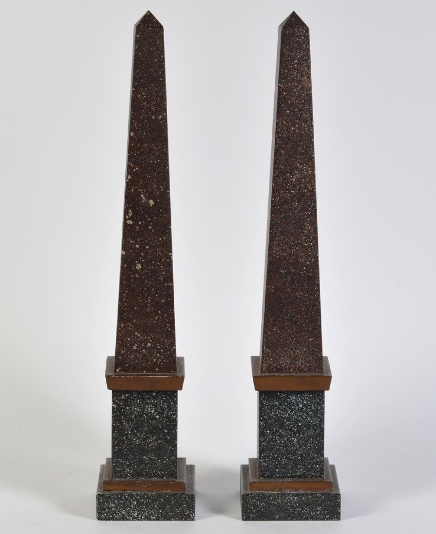 Pr. French Tailleur Fils & Cie Tole Obelisks