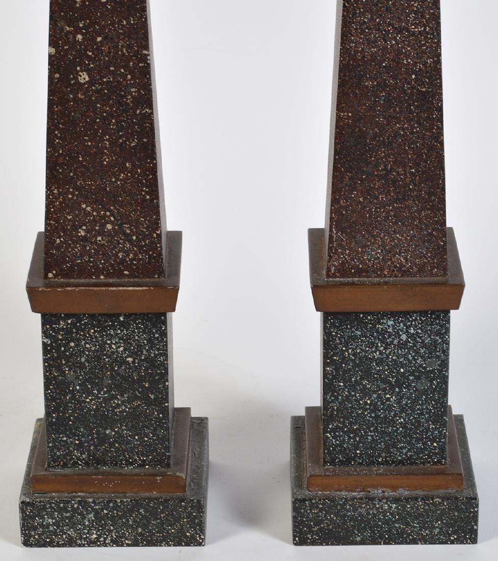 Pr. French Tailleur Fils & Cie Tole Obelisks - 2