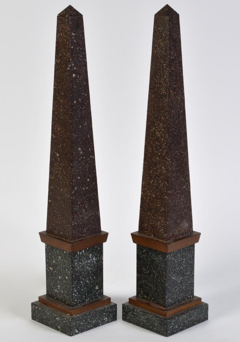 Pr. French Tailleur Fils & Cie Tole Obelisks - 5