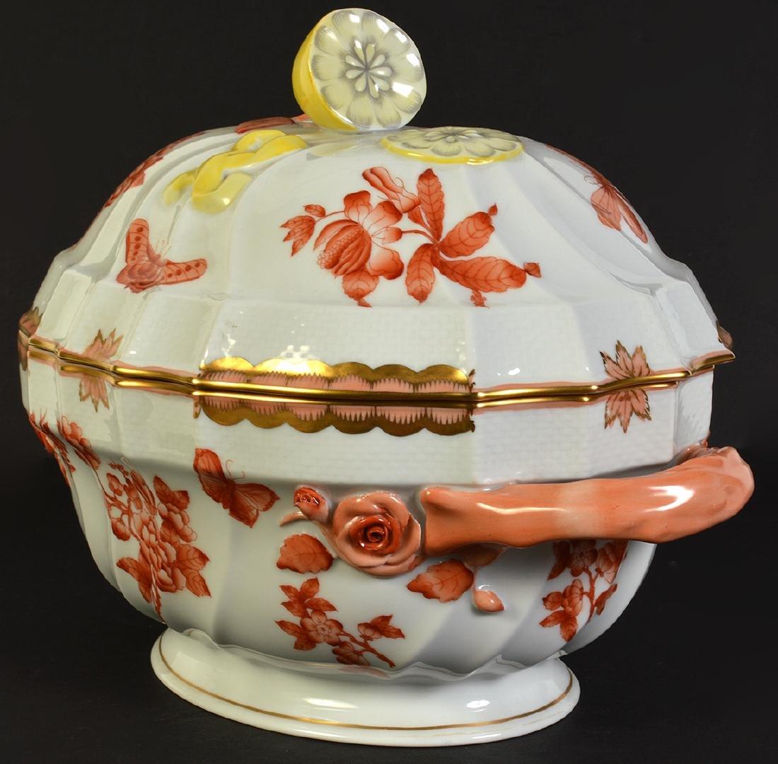 Herend Rust Chinese Bouquet Lidded Lemon Tureen - 2