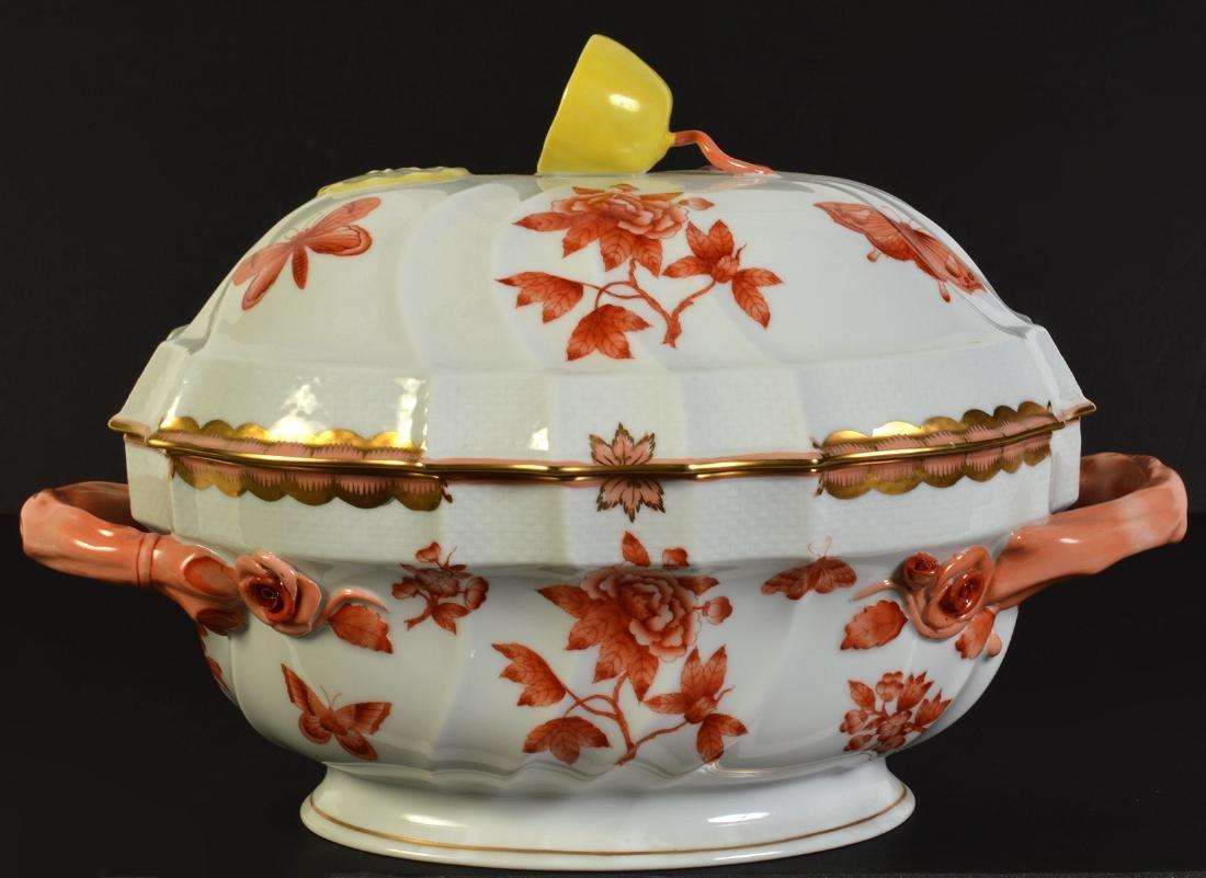 Herend Rust Chinese Bouquet Lidded Lemon Tureen - 3