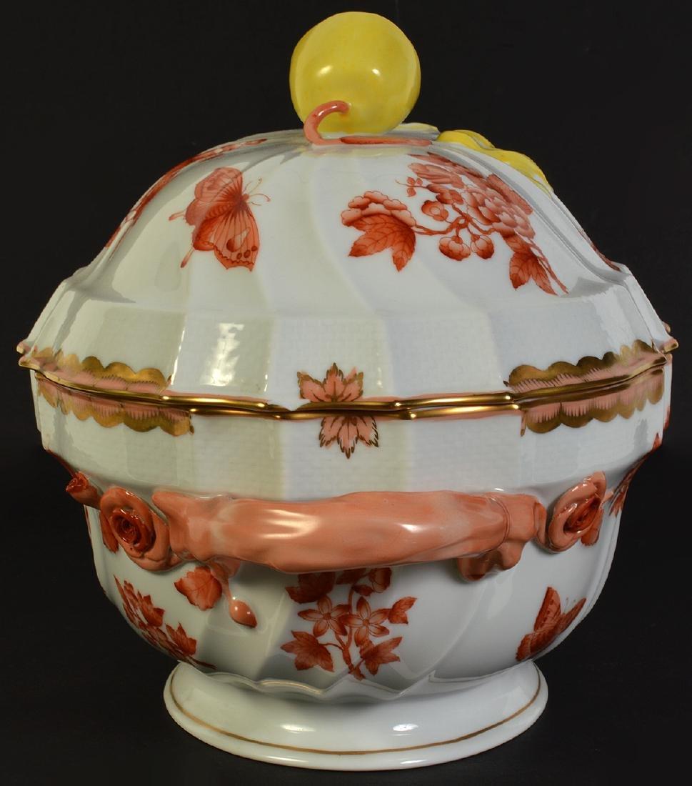 Herend Rust Chinese Bouquet Lidded Lemon Tureen - 4