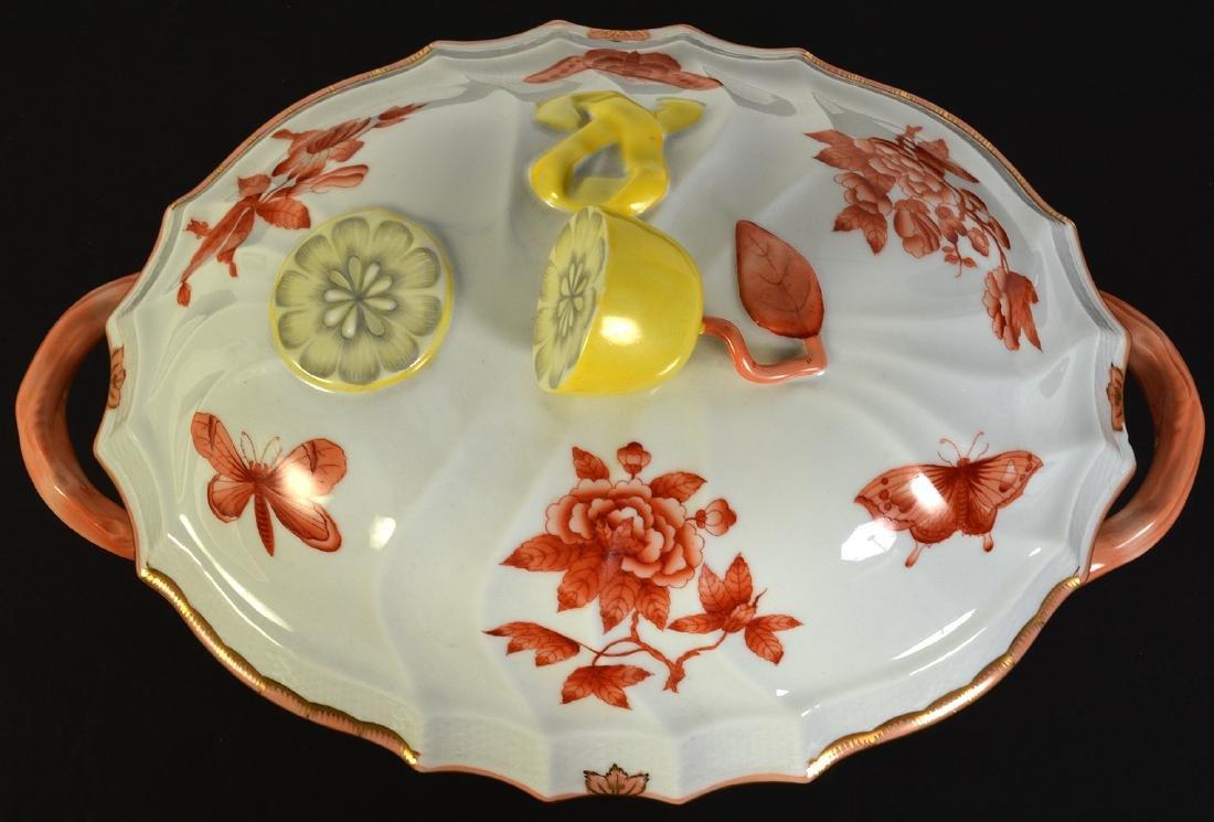Herend Rust Chinese Bouquet Lidded Lemon Tureen - 8