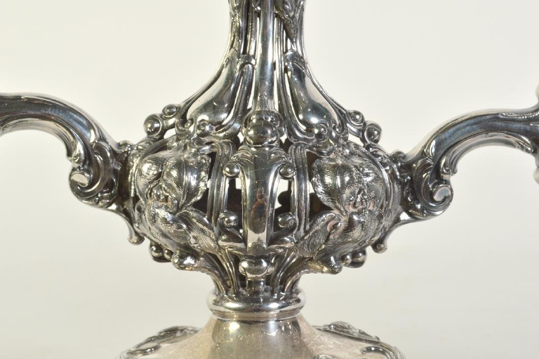 Silverplate Epergne W/2 Arms & Center Bowl - 2