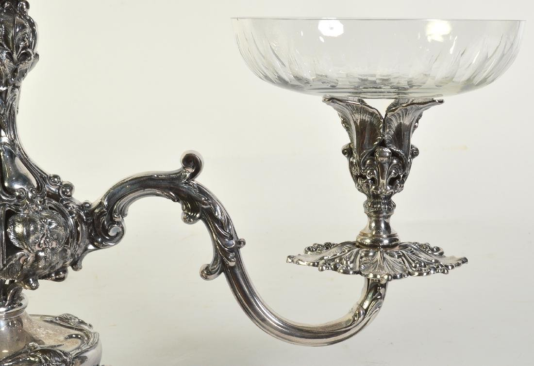 Silverplate Epergne W/2 Arms & Center Bowl - 3