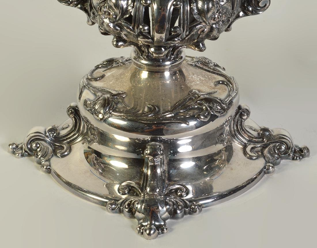 Silverplate Epergne W/2 Arms & Center Bowl - 4