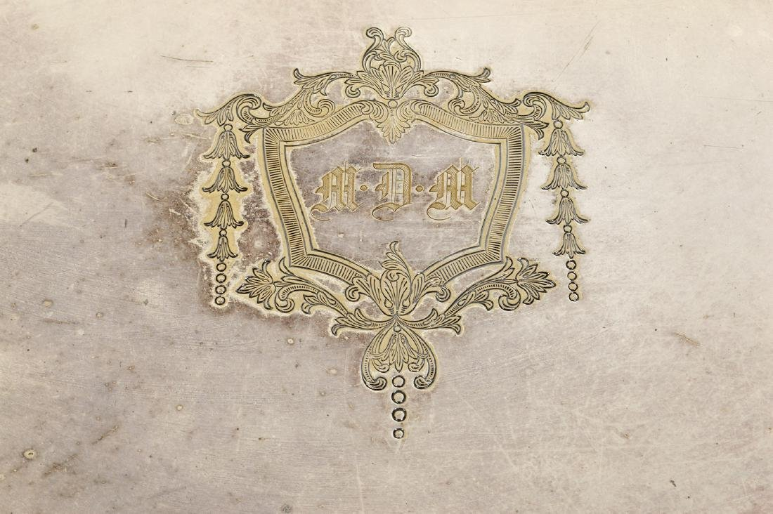Silverplate Oval Gallery Tray - 2
