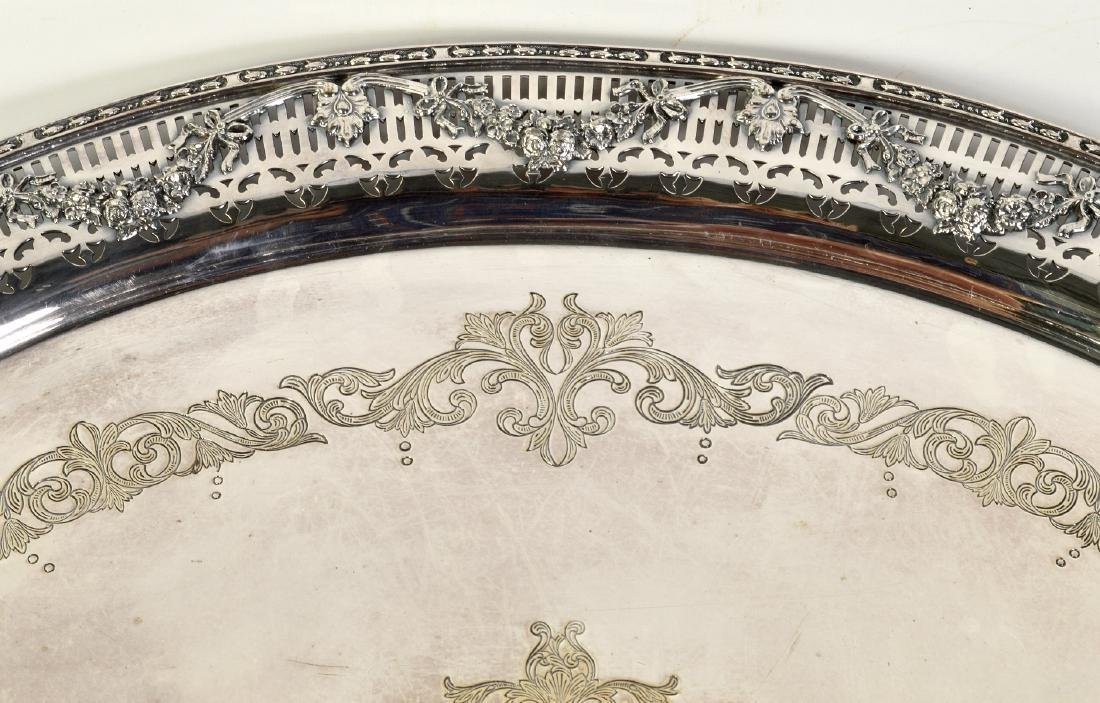 Silverplate Oval Gallery Tray - 3