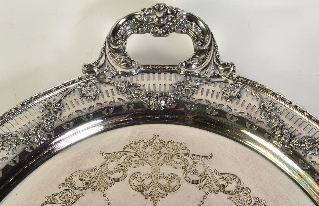 Silverplate Oval Gallery Tray - 4