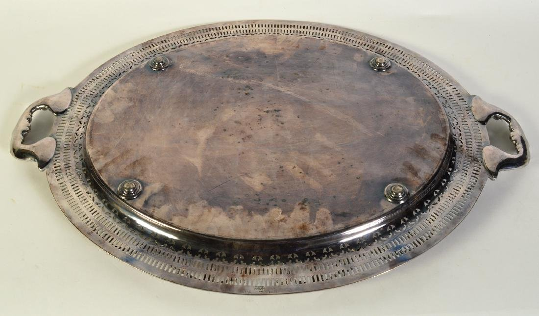 Silverplate Oval Gallery Tray - 5