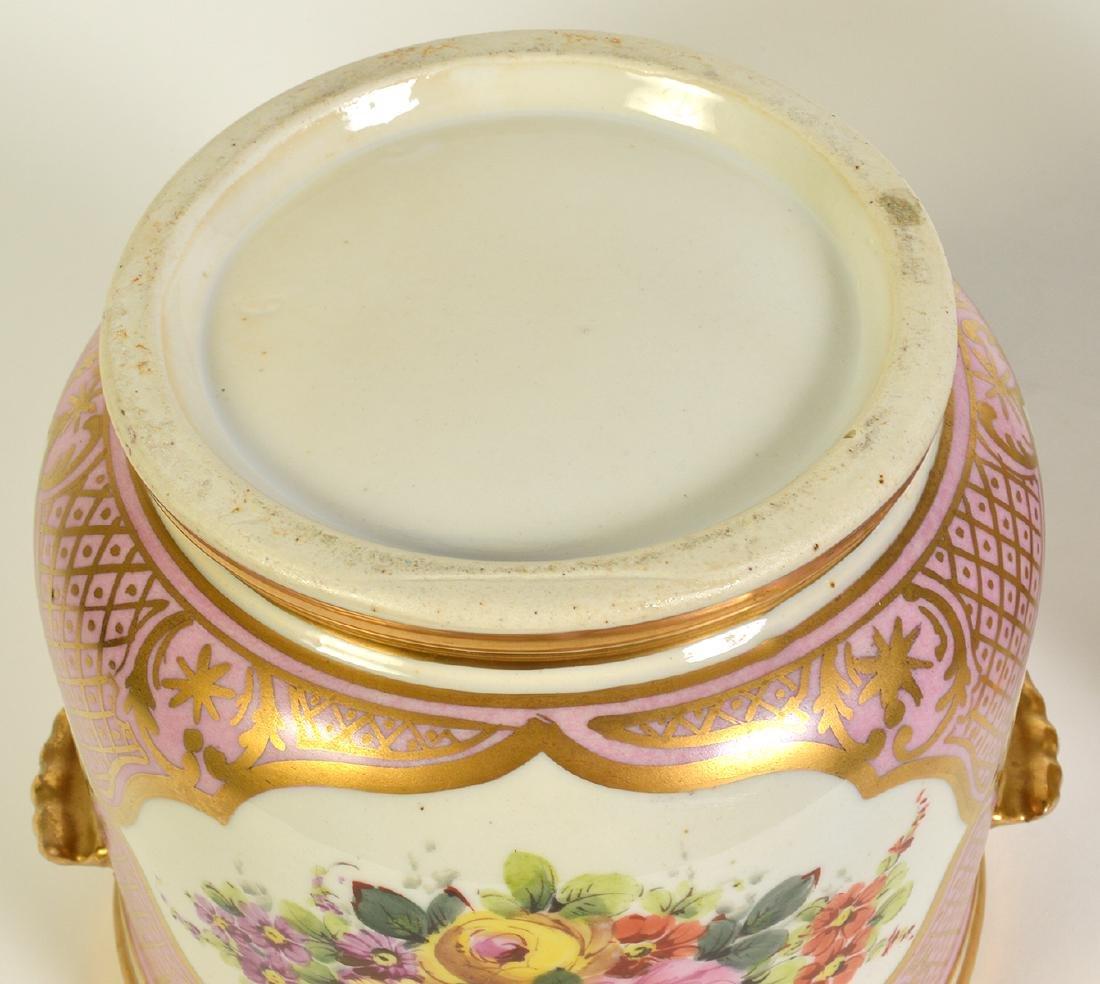 Pr. Old Paris Style Porcelain Cachpots - 5