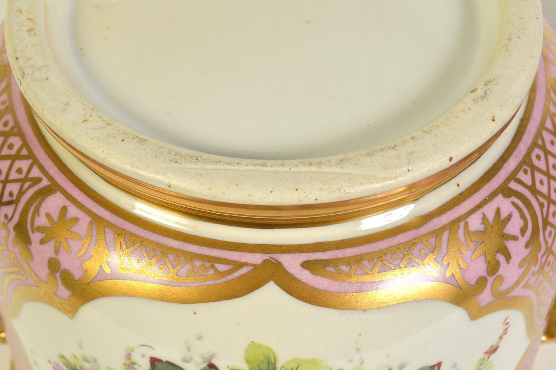 Pr. Old Paris Style Porcelain Cachpots - 6