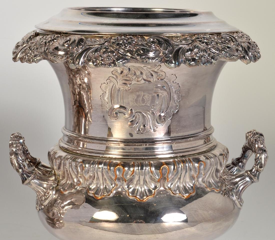 Pr. 19th C. Old Sheffield Silverplate Wine Coolers - 2