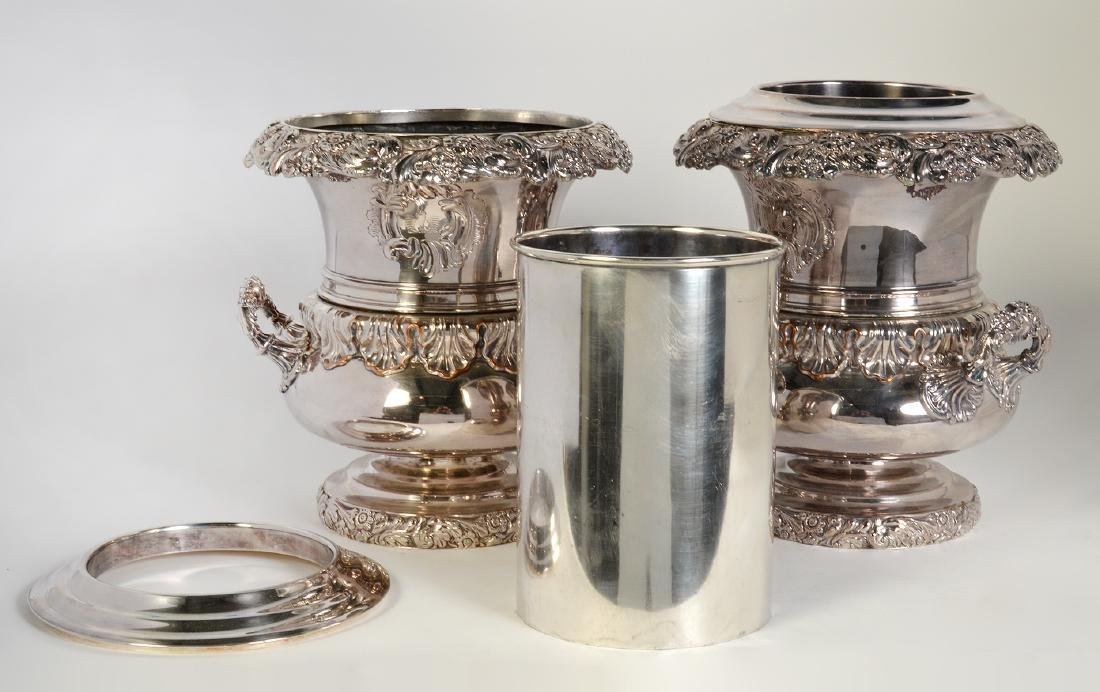 Pr. 19th C. Old Sheffield Silverplate Wine Coolers - 7