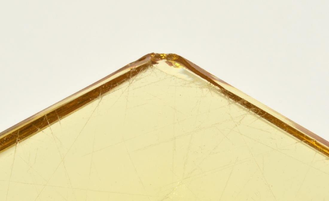 Pr. Heisey Sahara Yellow Glass Candlestick - 4