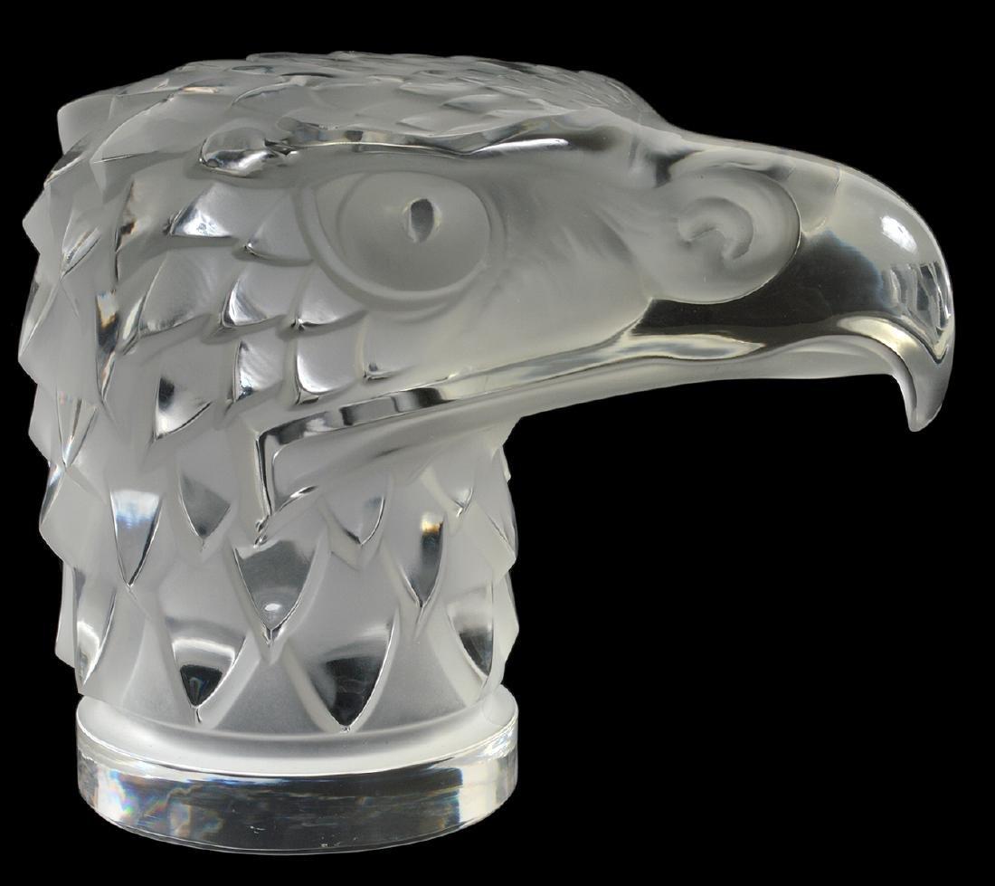 Lalique Crystal Eagle Head - 2