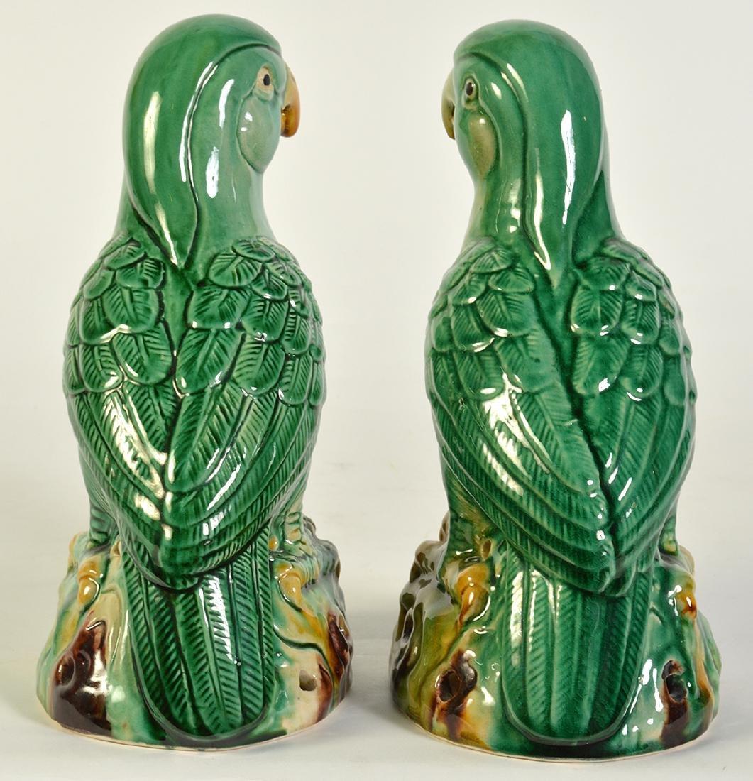 Pr. Glazed Porcelain Bird Figurines - 4