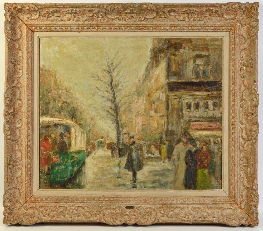 Large Gabriel Spat 'Rainy Day in Paris' Painting - 2