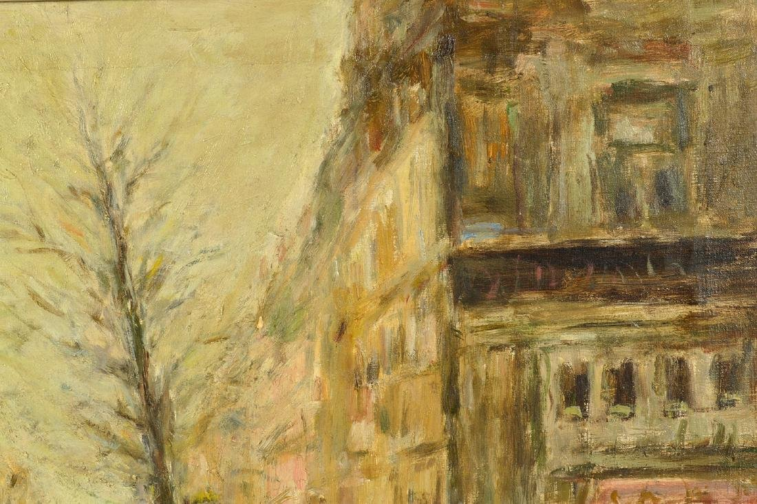 Large Gabriel Spat 'Rainy Day in Paris' Painting - 5