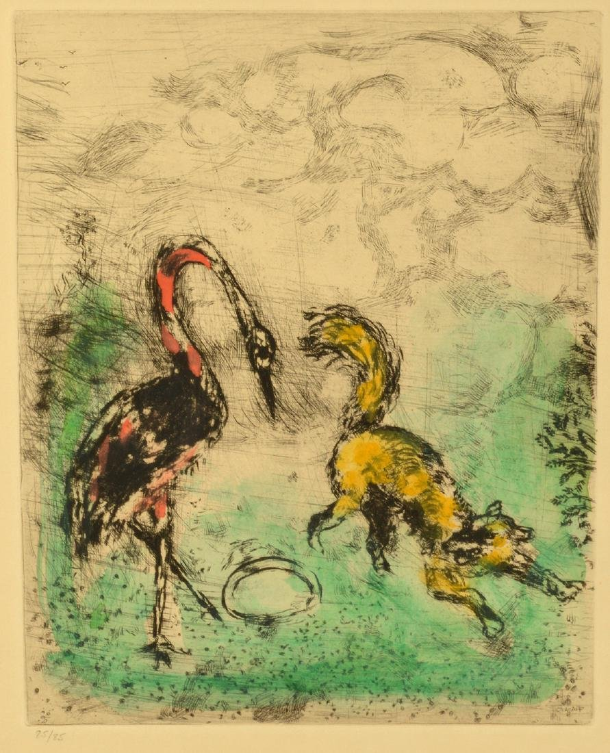 Marc Chagall Colored Etching - 2
