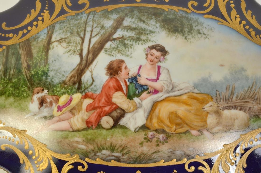 Sevres Style Painted Porcelain & Bronze Box - 4