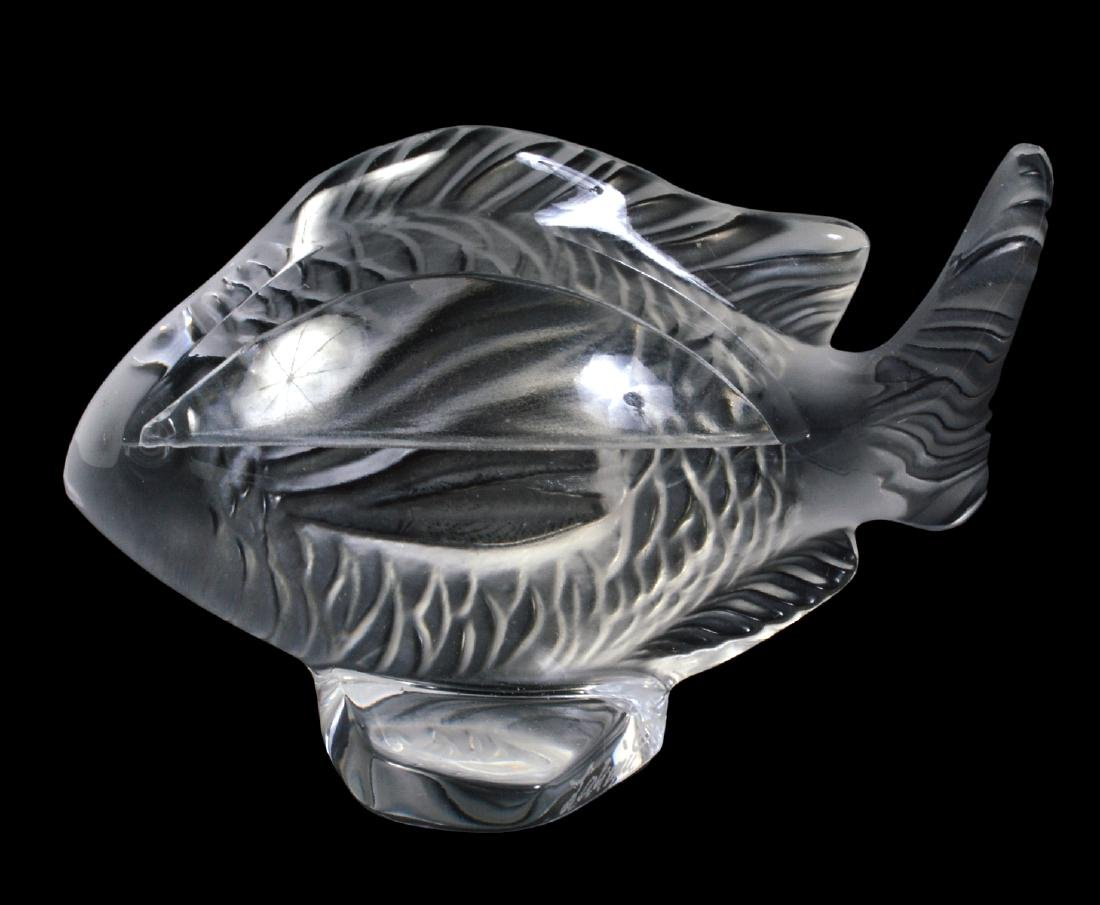 6 Lalique Crystal Fish Place Card Holders - 3