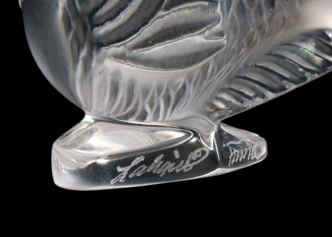 6 Lalique Crystal Fish Place Card Holders - 4