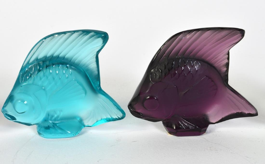5 Lalique Crystal Colored Fish - 3