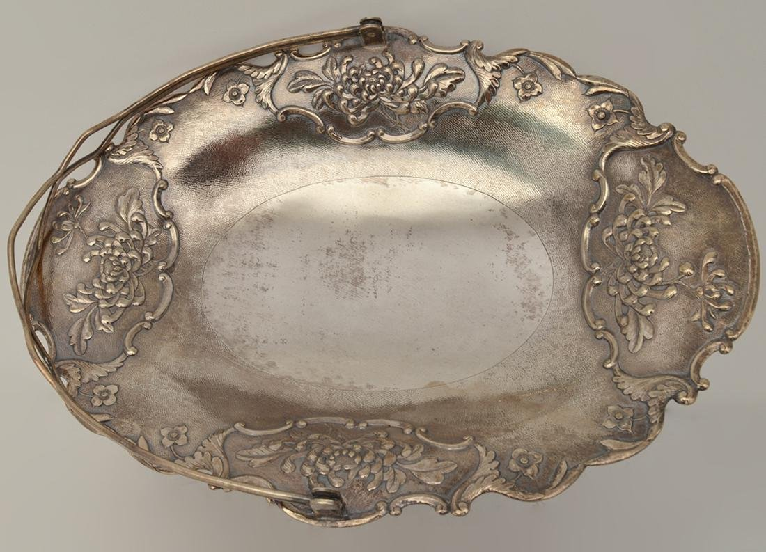 Chinese Sterling Basket by Tuck Chang - 4