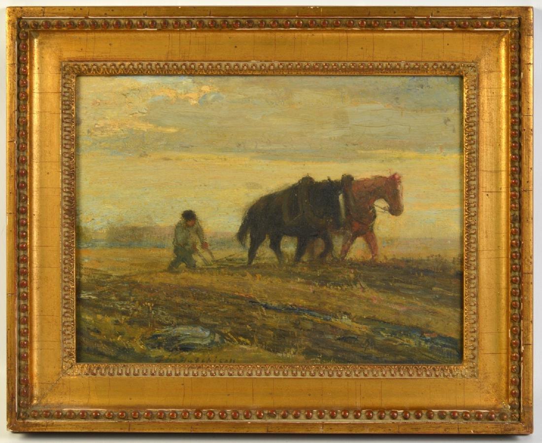 "Frederick W. Hutchinson ""Plow Horses"" O/C"