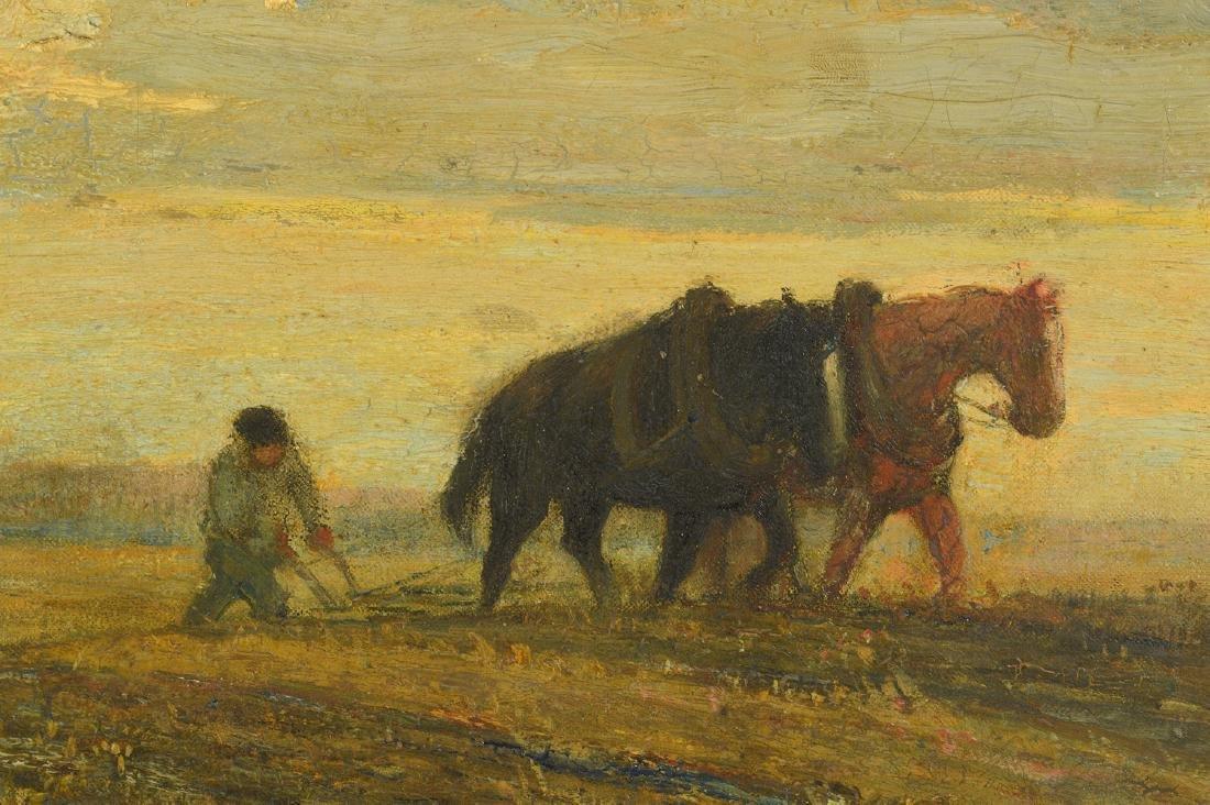 "Frederick W. Hutchinson ""Plow Horses"" O/C - 2"