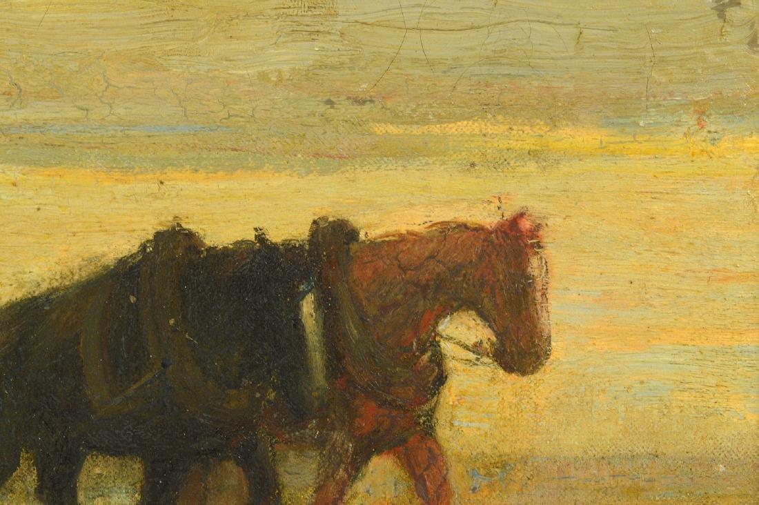 "Frederick W. Hutchinson ""Plow Horses"" O/C - 4"