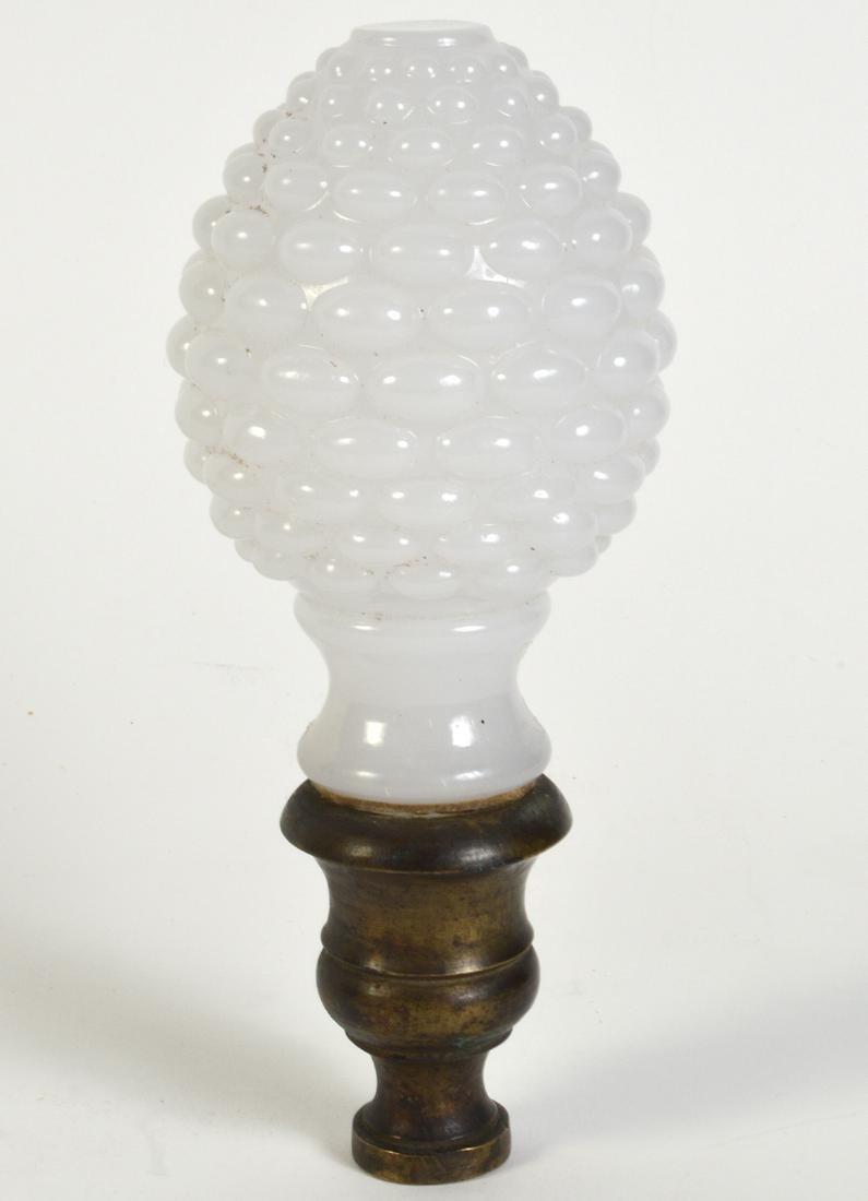 Antique White Opaline Boule Newel Post