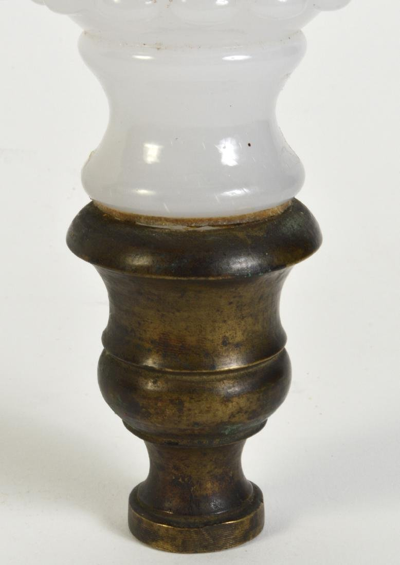 Antique White Opaline Boule Newel Post - 2