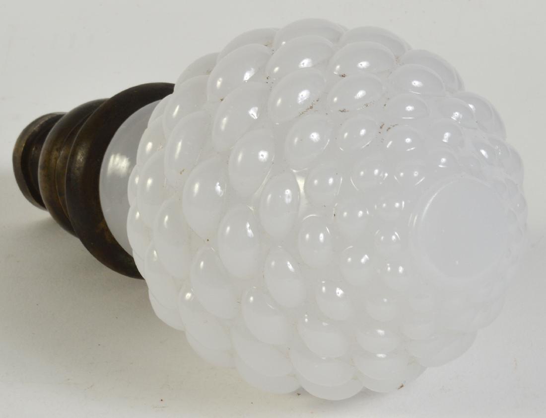 Antique White Opaline Boule Newel Post - 3