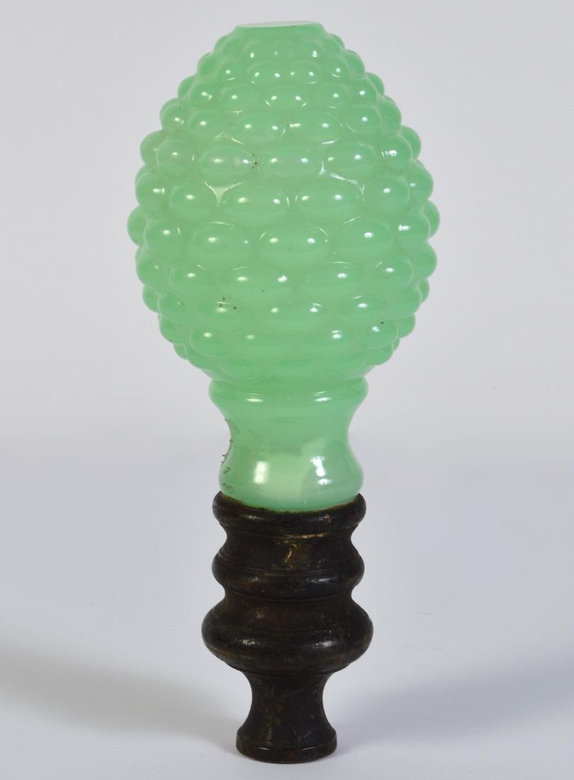 Antique Green Opaline Boule Escalier Newel Post