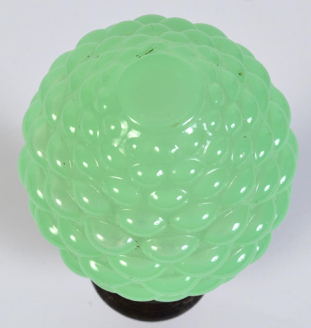 Antique Green Opaline Boule Escalier Newel Post - 4