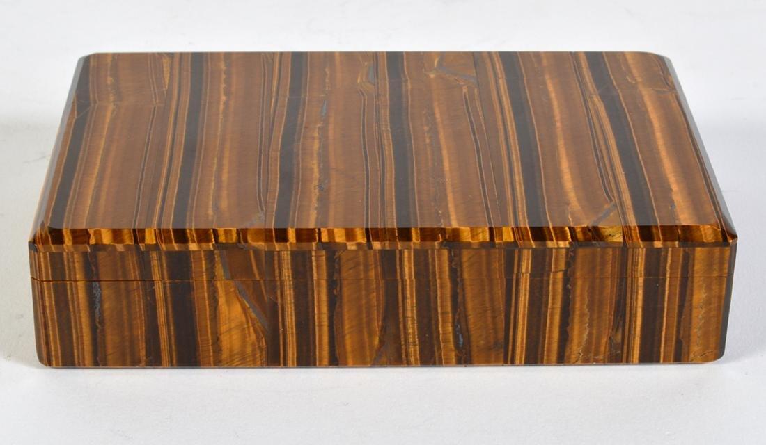 Tiger Eye Gemstone Lidded Box