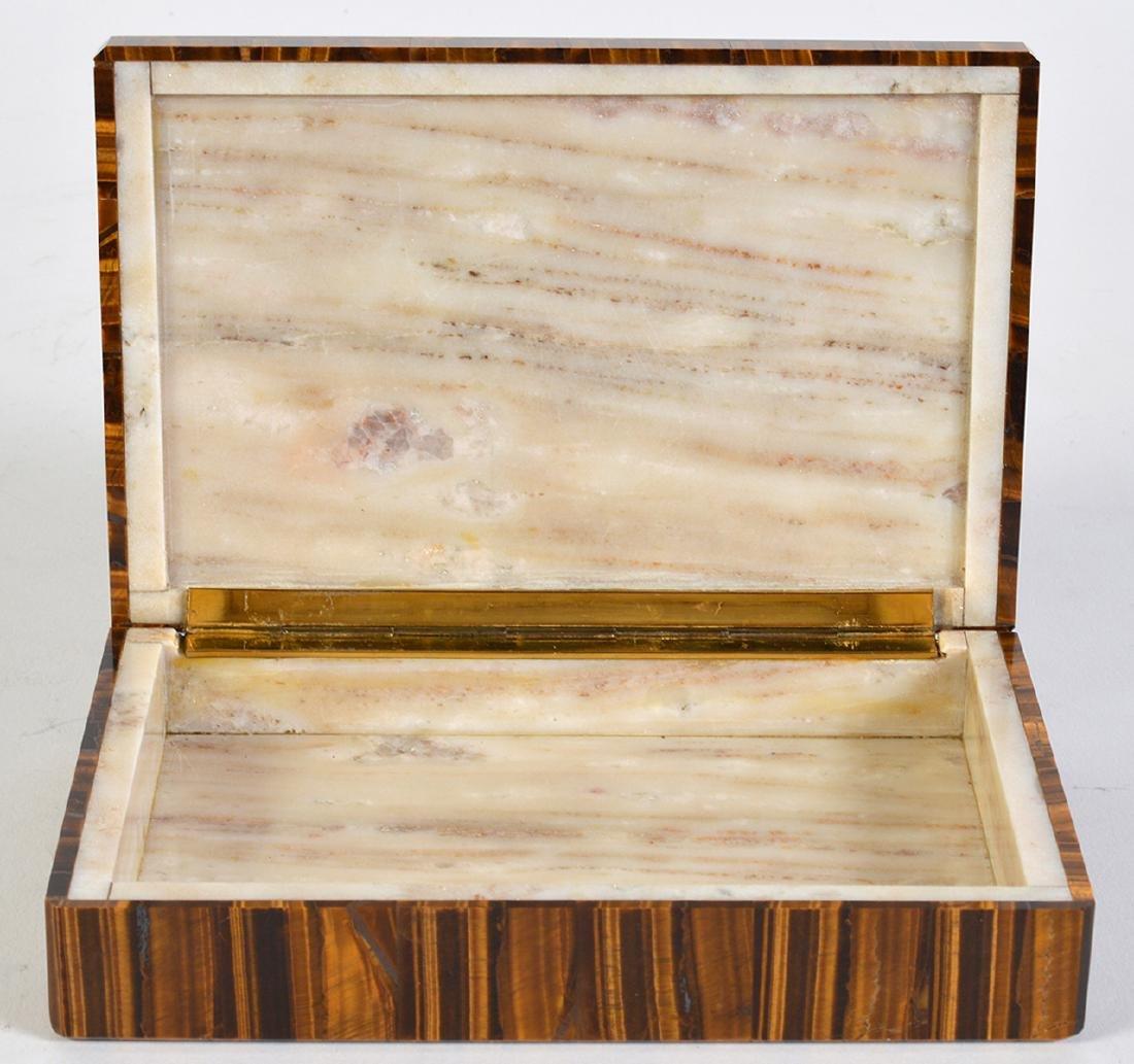 Tiger Eye Gemstone Lidded Box - 2