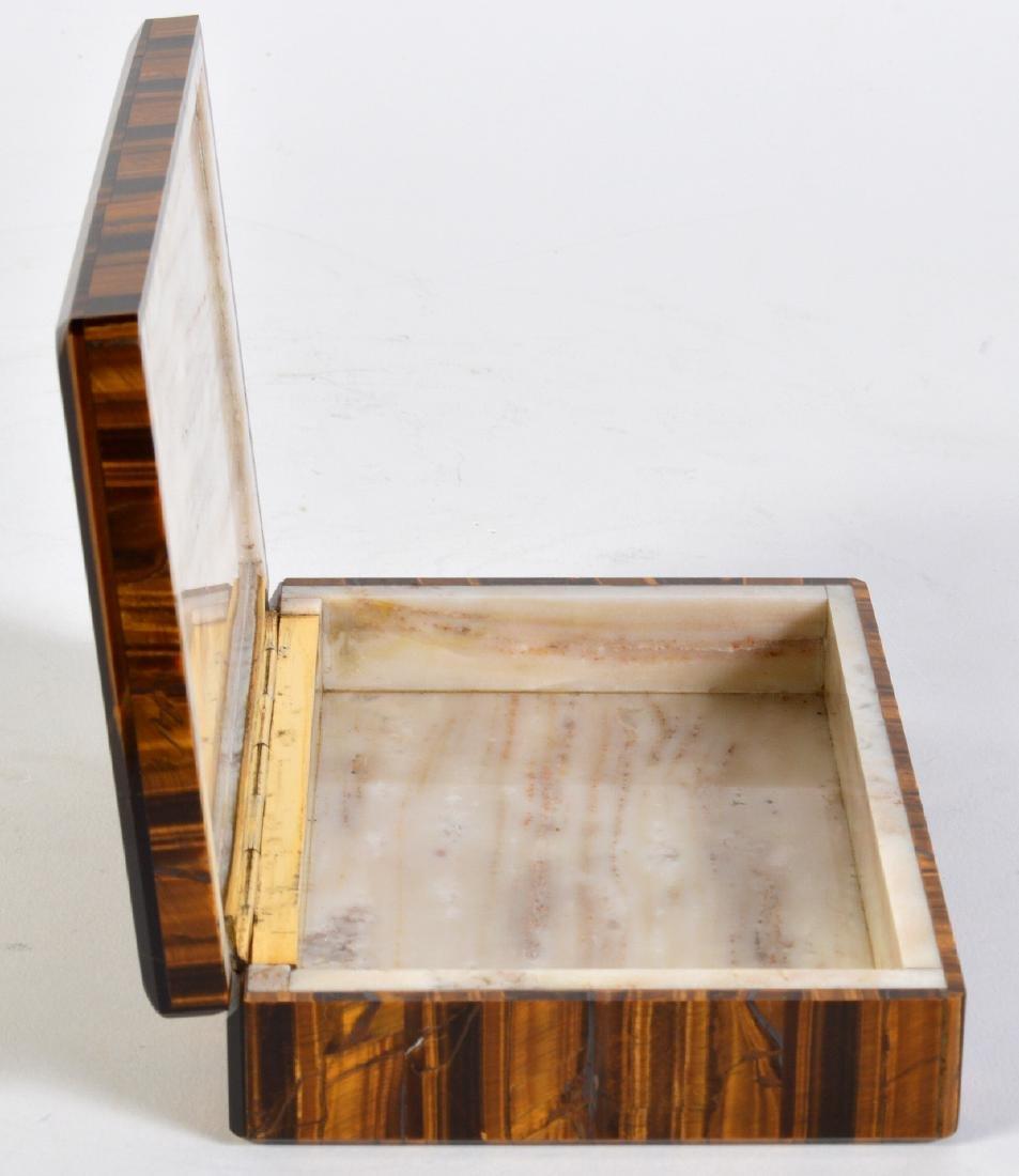 Tiger Eye Gemstone Lidded Box - 3