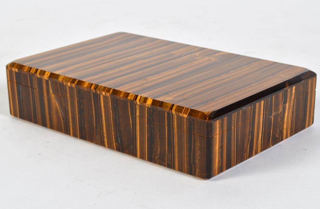 Tiger Eye Gemstone Lidded Box - 9