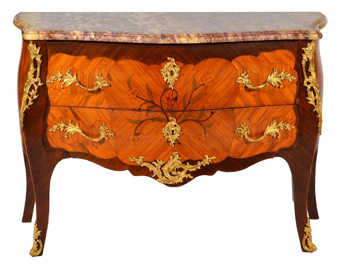 French Marble Top Commode Late 18th/19th C.