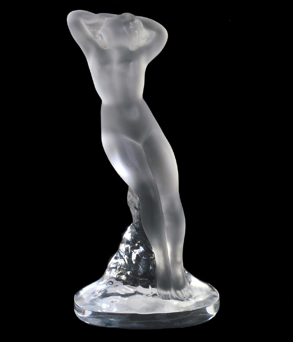 Lalique Crystal Figurine 'Arms Up' Dancer