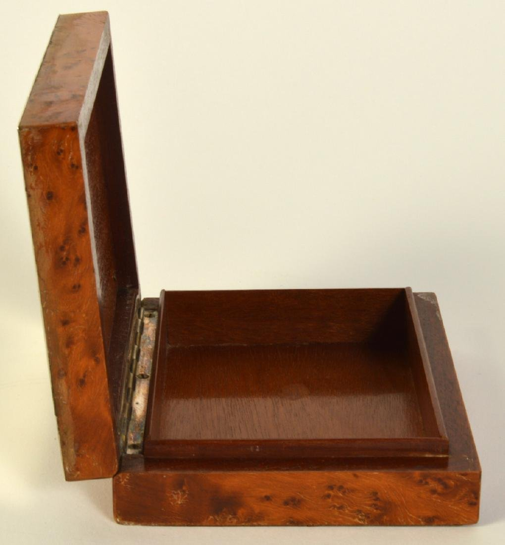 Sterling & Cedar Box with Miniature Scene on Lid - 6
