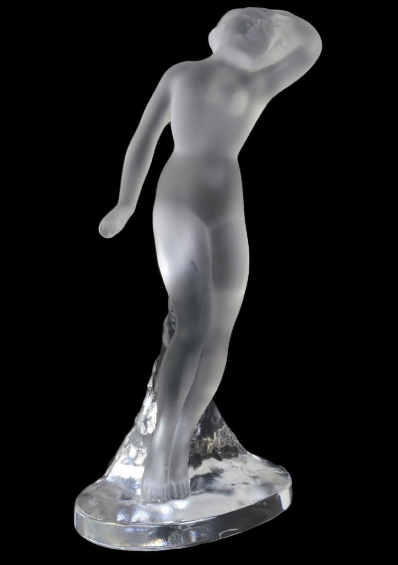 """Lalique Crystal Statuette """"Danseuse Bras Baisse"""""""
