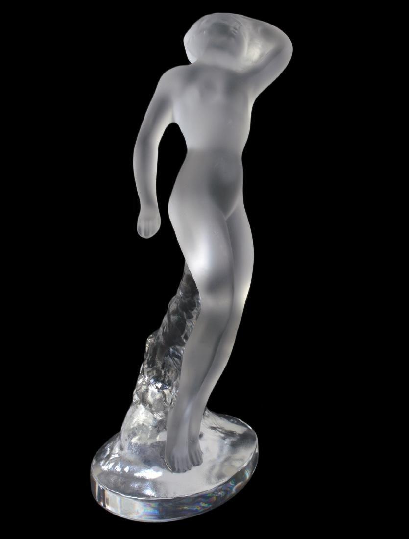 """Lalique Crystal Statuette """"Danseuse Bras Baisse"""" - 2"""