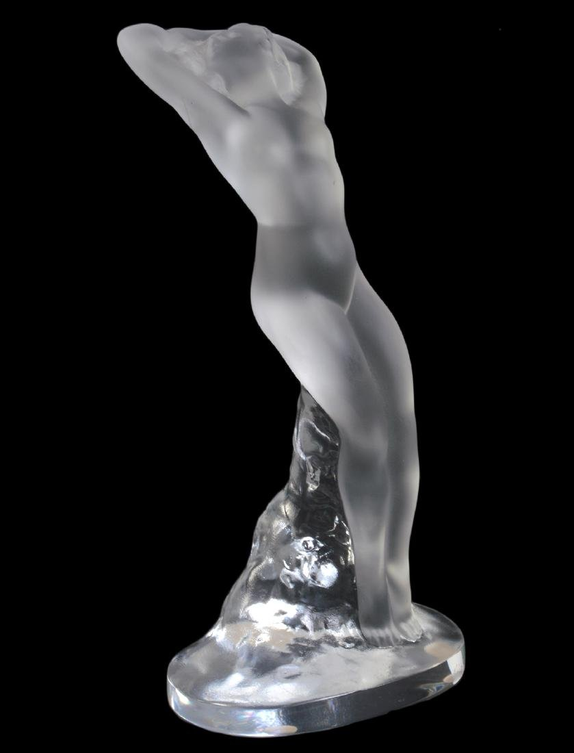 """Lalique Frosted Figure of Dancer """"Arms Up"""""""